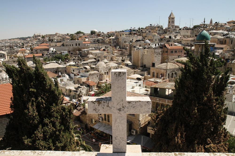 Jerusalem Old City View Cross ISRAEL