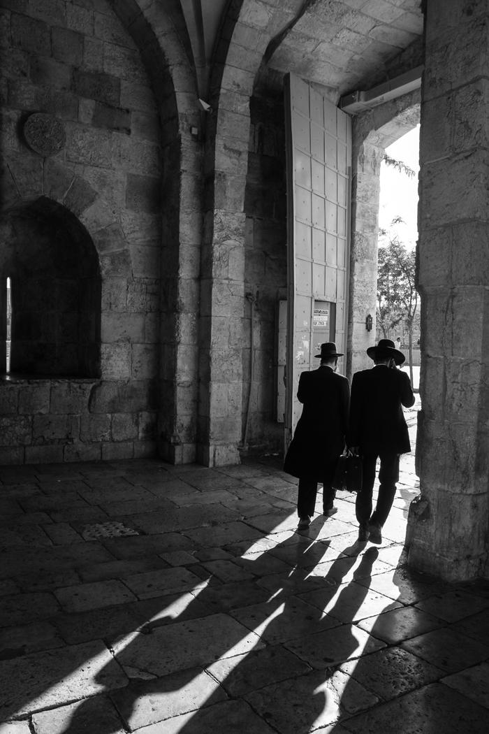 Jerusalem Orthodox Jews Jaffa Gate ISRAEL
