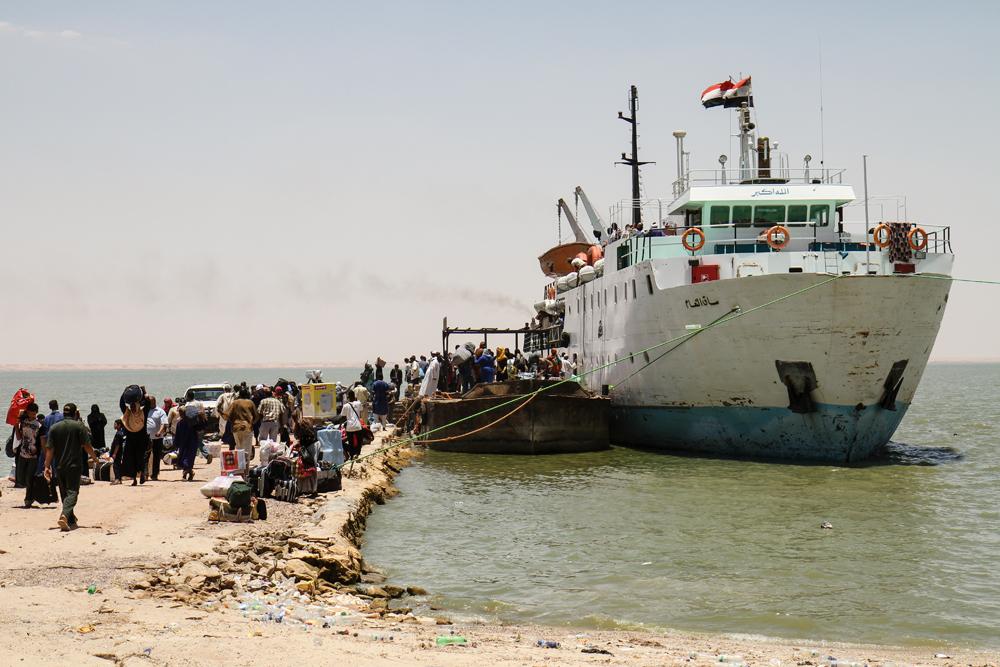 Wadi Halfa Port Unloading SUDAN
