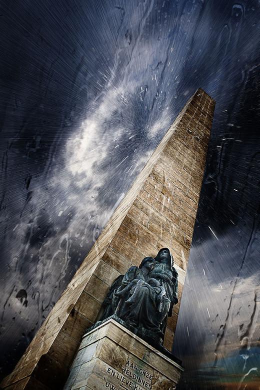 Women's Memorial Under Rainy Sky by Leanri van Heerden