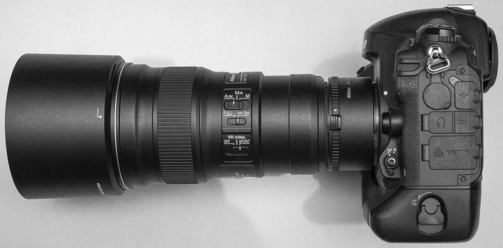 AF-S 300mm f/4E PF ED VR + TC17E II on D4