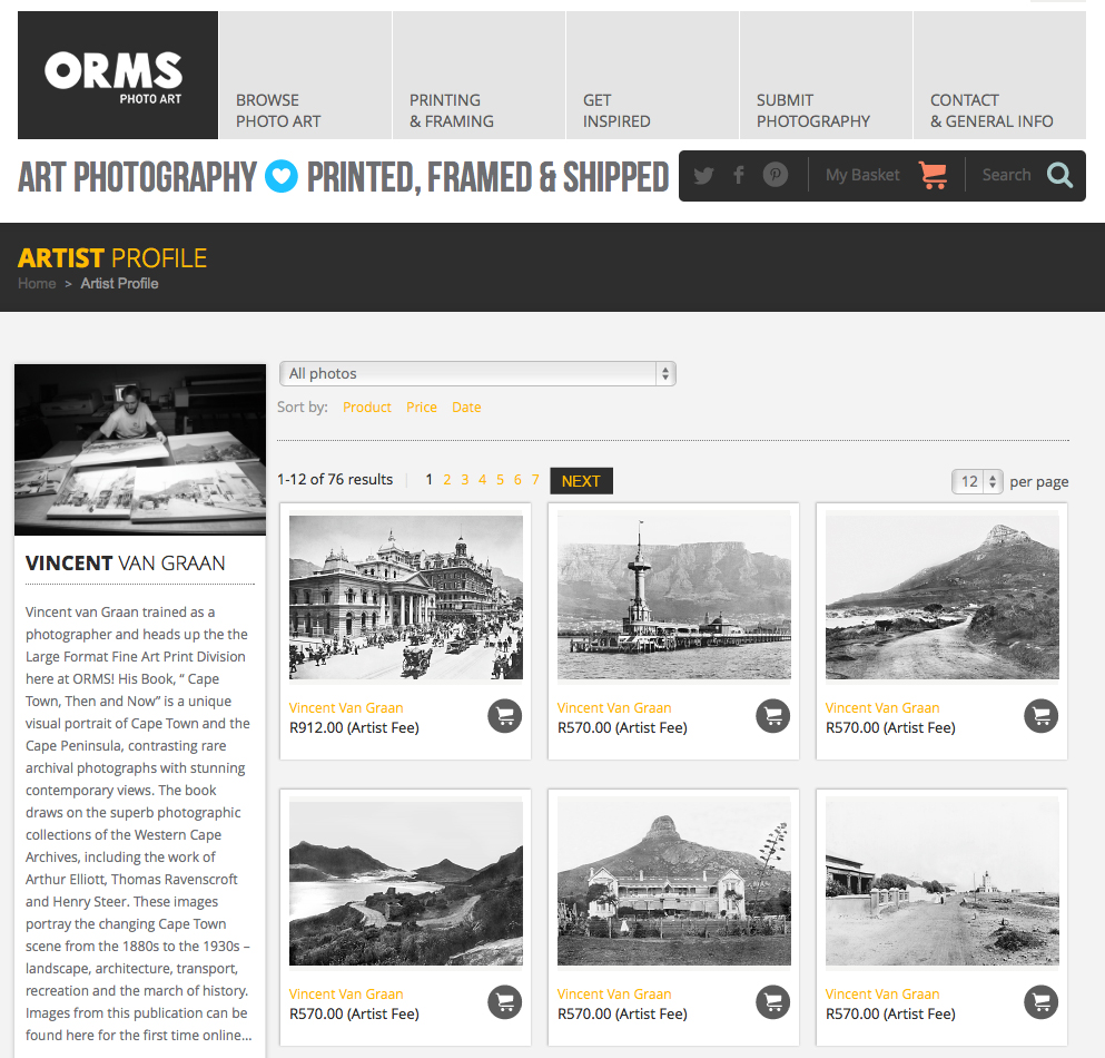 Cape Town, Now and Then: Archival images available on Orms Photo Art