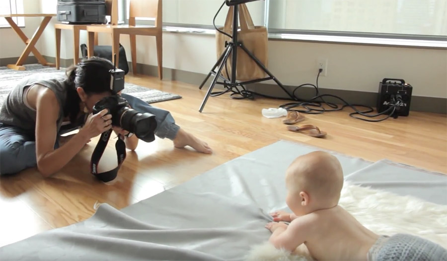 Tips for photographing a baby in studio on Orms Connect Photographic Blog