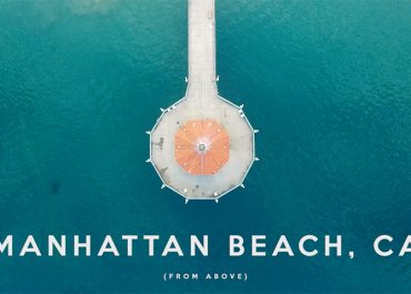 Manhattan beach from above, drone footage by Scott Macfarlane