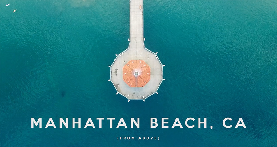 Manhattan beach from above, drone footage by Scott Macfarlane