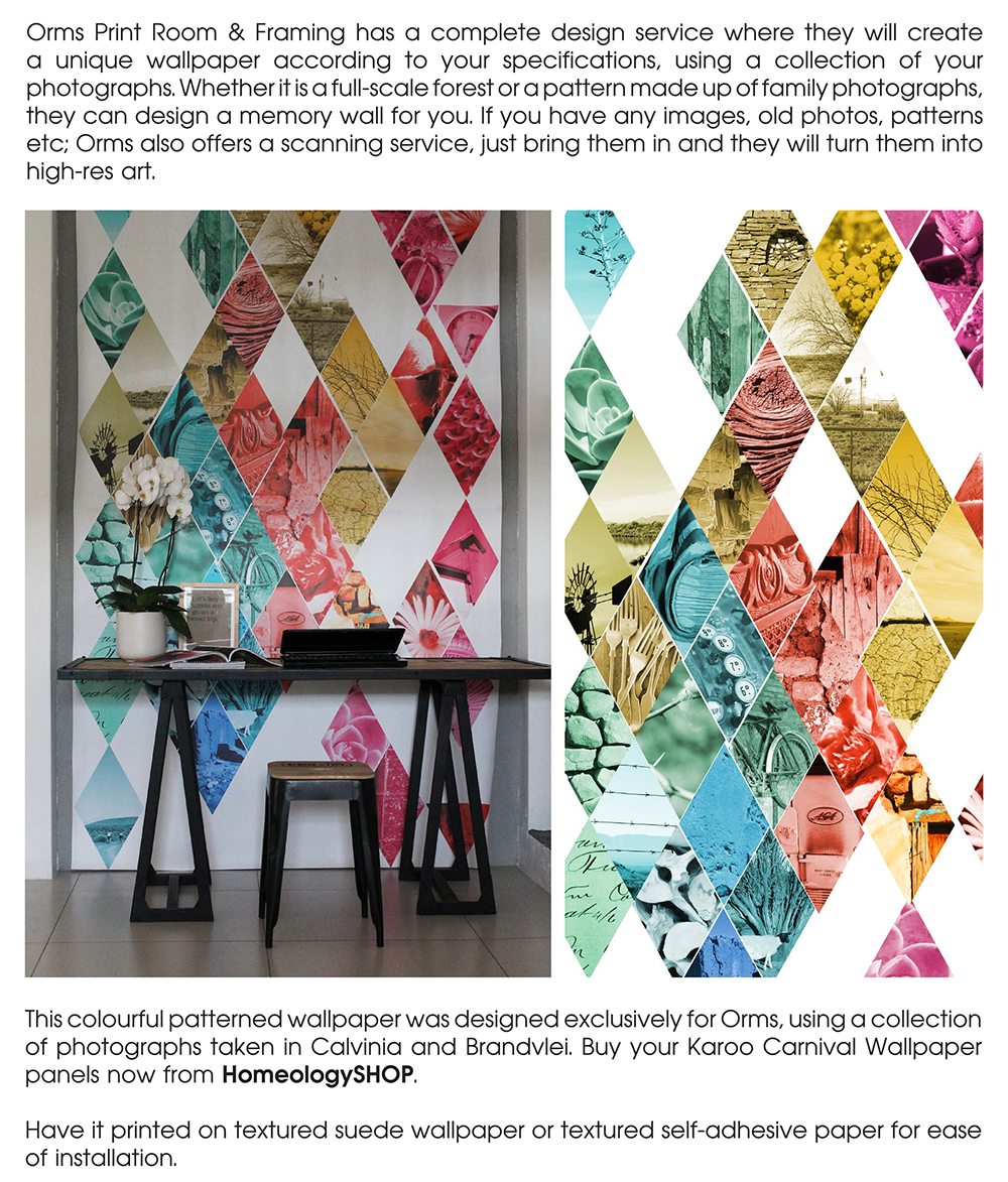 Orms Print Room and Framing and Homology DIY Project - Paper - Personalised Wallpaper