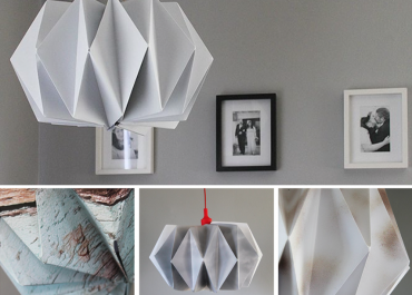 Orms Print Room and Framing and Homology DIY Project - Paper - Origami Photo Pendant