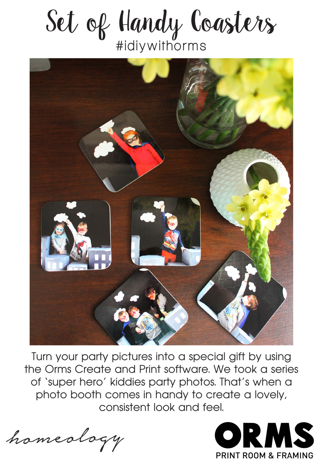 DIY Coasters - Orms Print Room and Framing and Homology DIY Project - Personalised Gift Ideas 2015