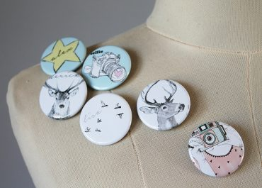 Badges - Orms Print Room and Framing and Homology DIY Project - Personalised Gift Ideas 2015