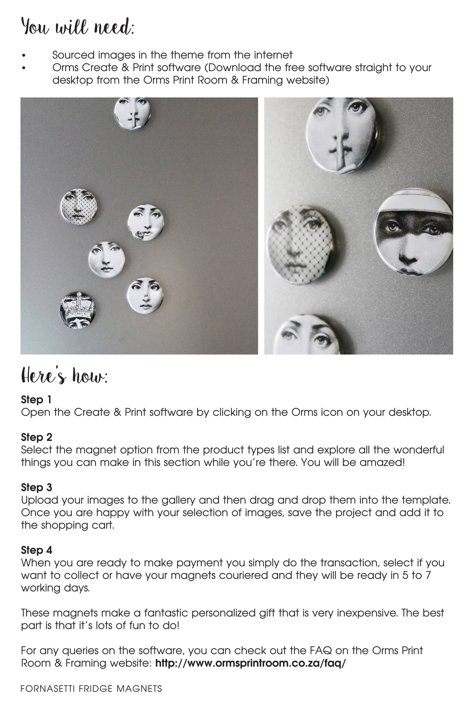 Diy Gift Ideas Fridge Magnets The Orms Photographic Blog