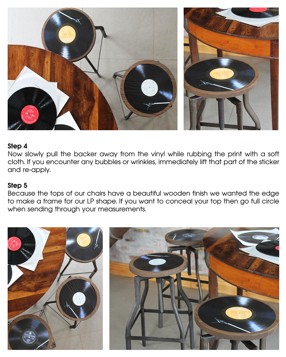 Orms Print Room and Framing and Homology DIY Project - Vinyl - Musical Chairs