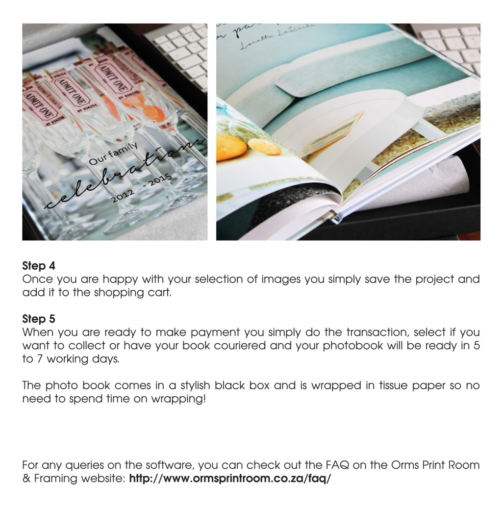Photobook - Orms Print Room and Framing and Homology DIY Project - Personalised Gift Ideas 2015