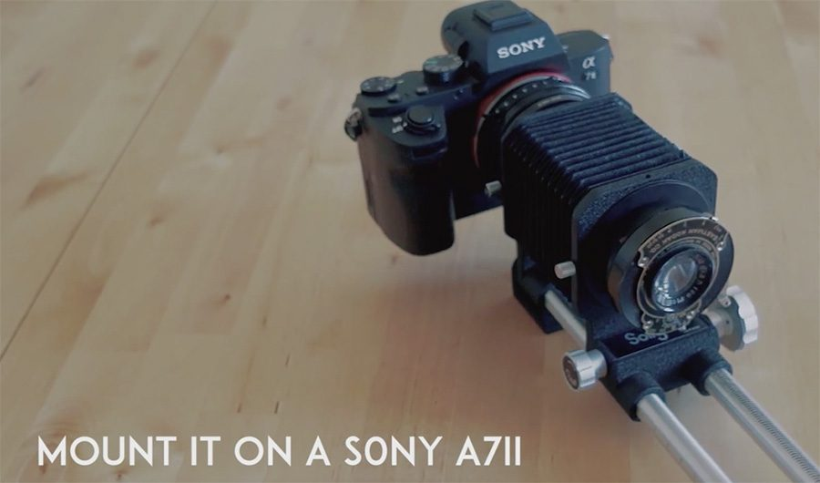 Sony-a7II-camera-with-vintage-lens-mounted-on-Orms-Connect
