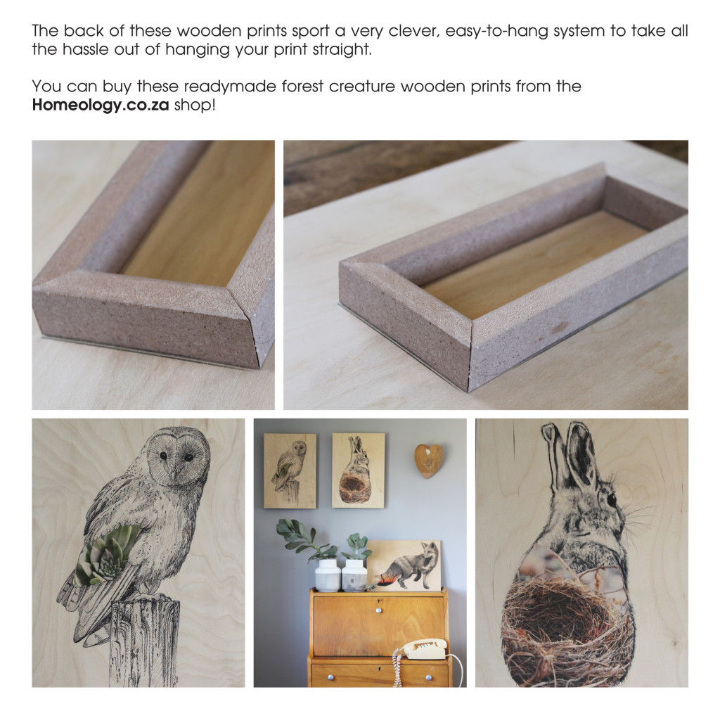 Prints on Wood - Orms Print Room and Framing and Homology DIY Project - Personalised Gift Ideas 2015
