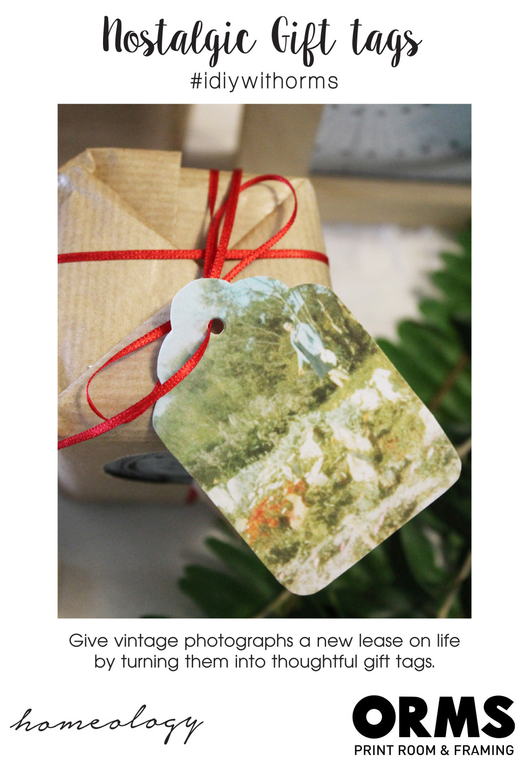 Gift Tags - Orms Print Room and Framing and Homology DIY Project - Personalised Gift Ideas 2015