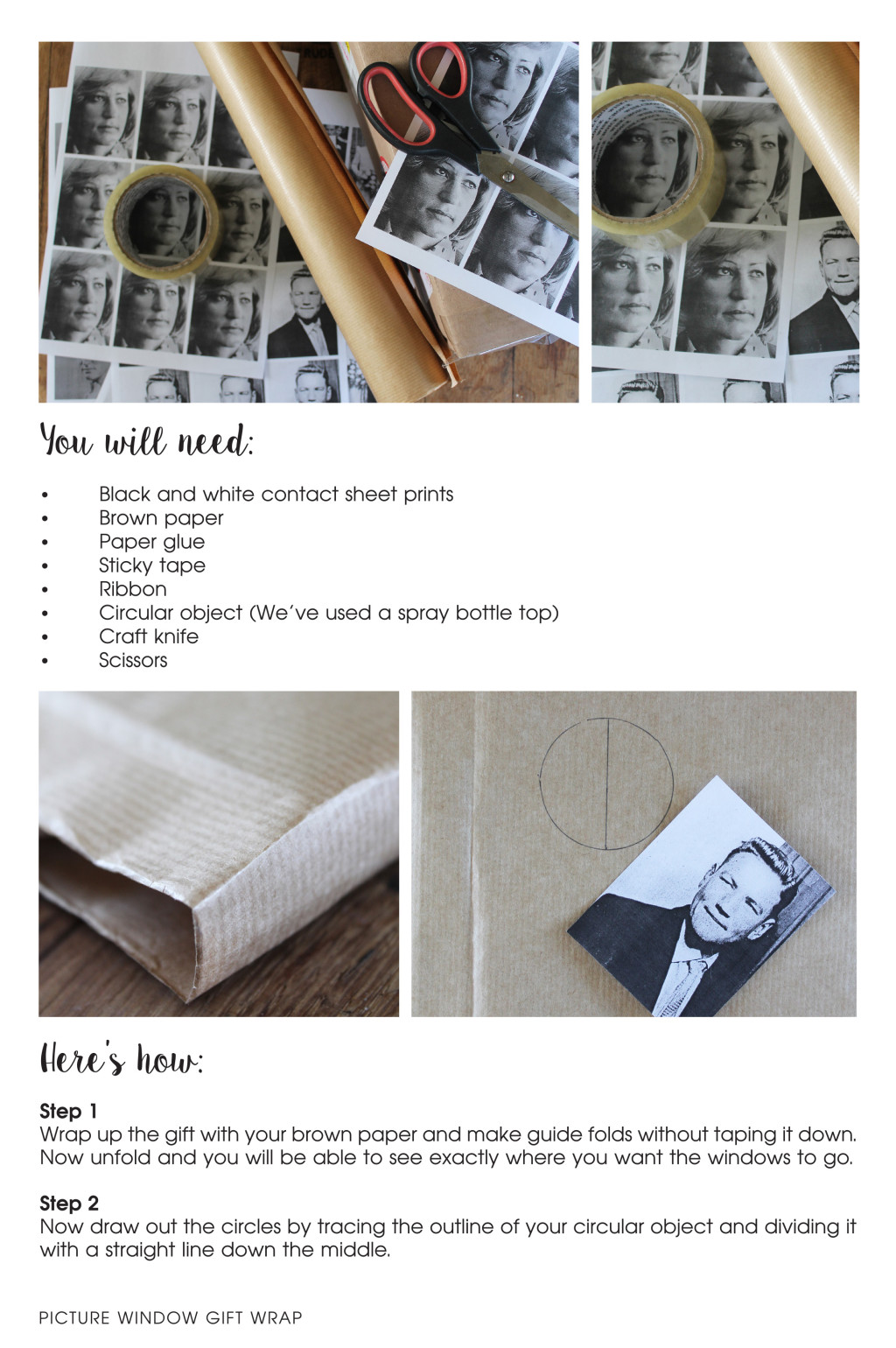 Gift Wrapping - Orms Print Room and Framing and Homology DIY Project - Personalised Gift Ideas 2015