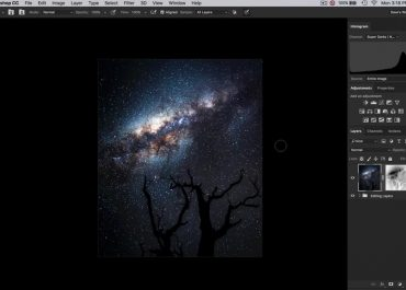 Noise reduction in night sky photos with photoshop