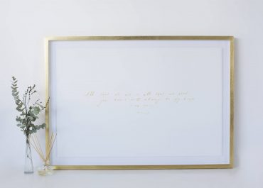 Paper-annevirsary-gift-gold-frame-by-Orms-PrintRoom-and-Framing