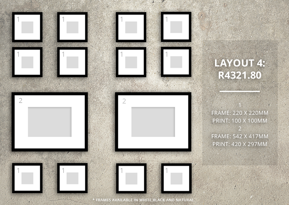 Feature Wall Layouts with Orms Print Room & Framing