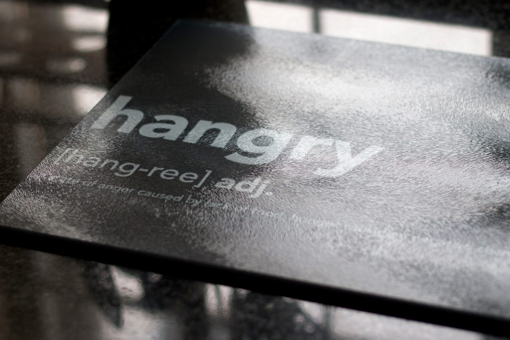 Inspiration: Personalised Glass Chopping Board