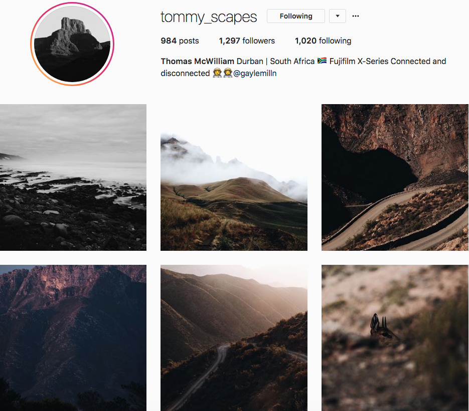Thomas McWilliam, one of our 9 favourite SA instagrammers