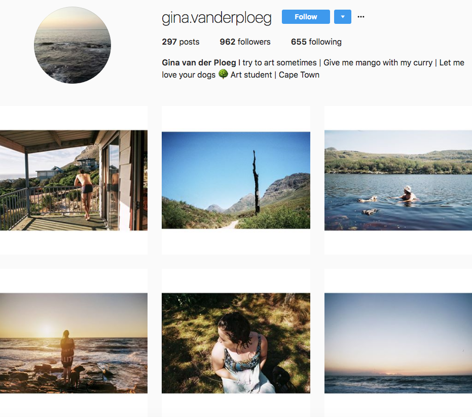 Gina van der Ploeg, one of our 9 favourite SA instagrammers