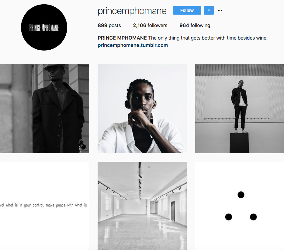 Prince Mphomane, one of our 9 favourite SA instagrammers