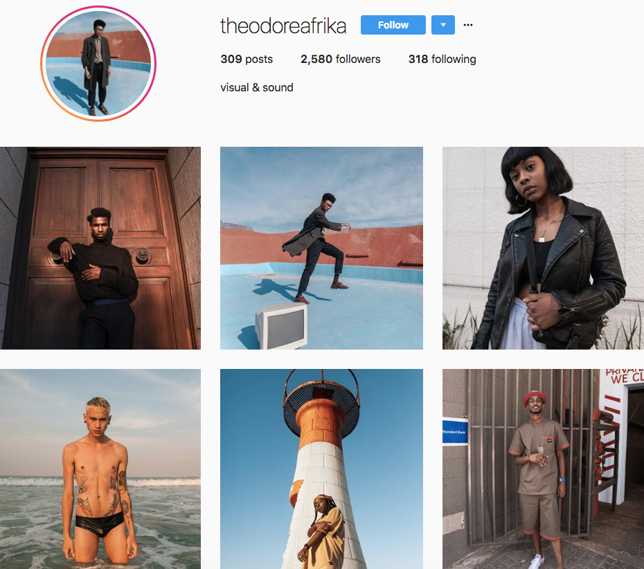 Theodore Afrika, one of our 9 favourite SA instagrammers
