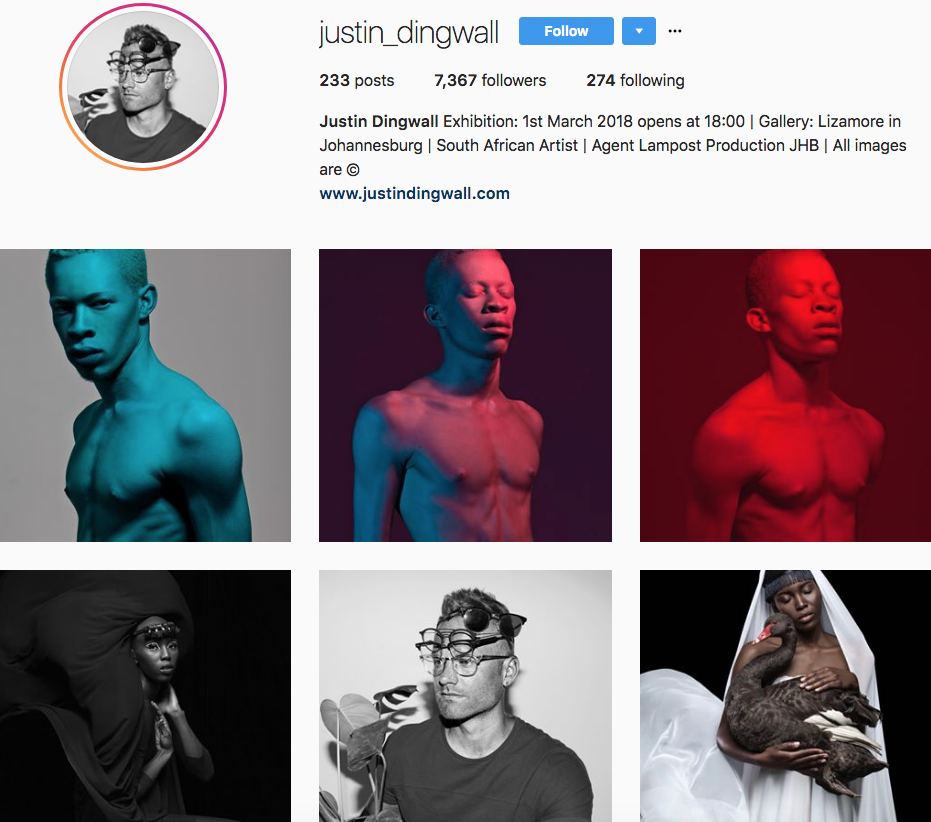 Justin Dingwall, one of our 9 favourite SA instagrammers
