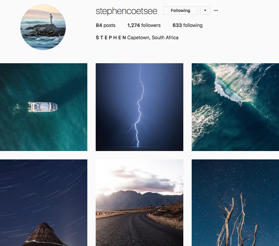 Stephen Coetsee, one of our 9 favourite SA instagrammers