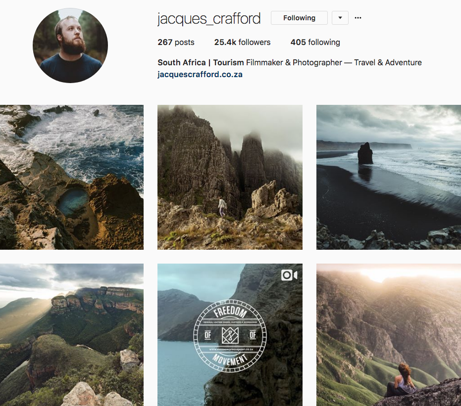 Jacques Crafford, one of our 9 favourite SA instagrammers