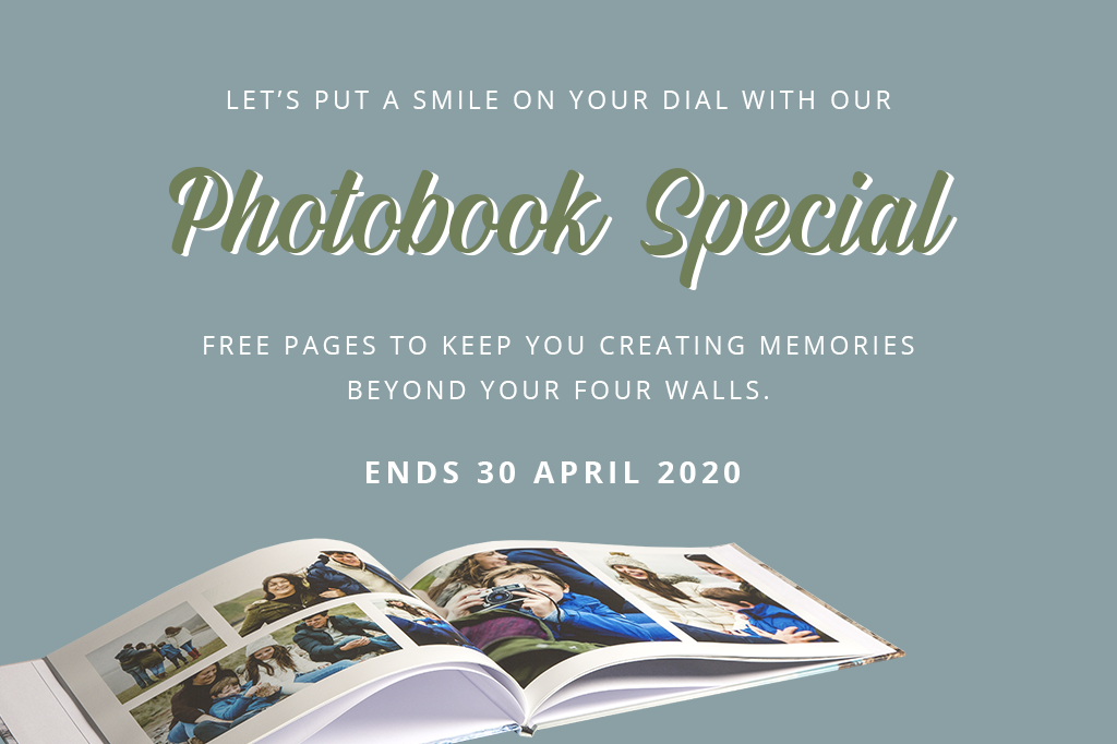Stay Home & Get 28 Pages FREE in Your Photobook