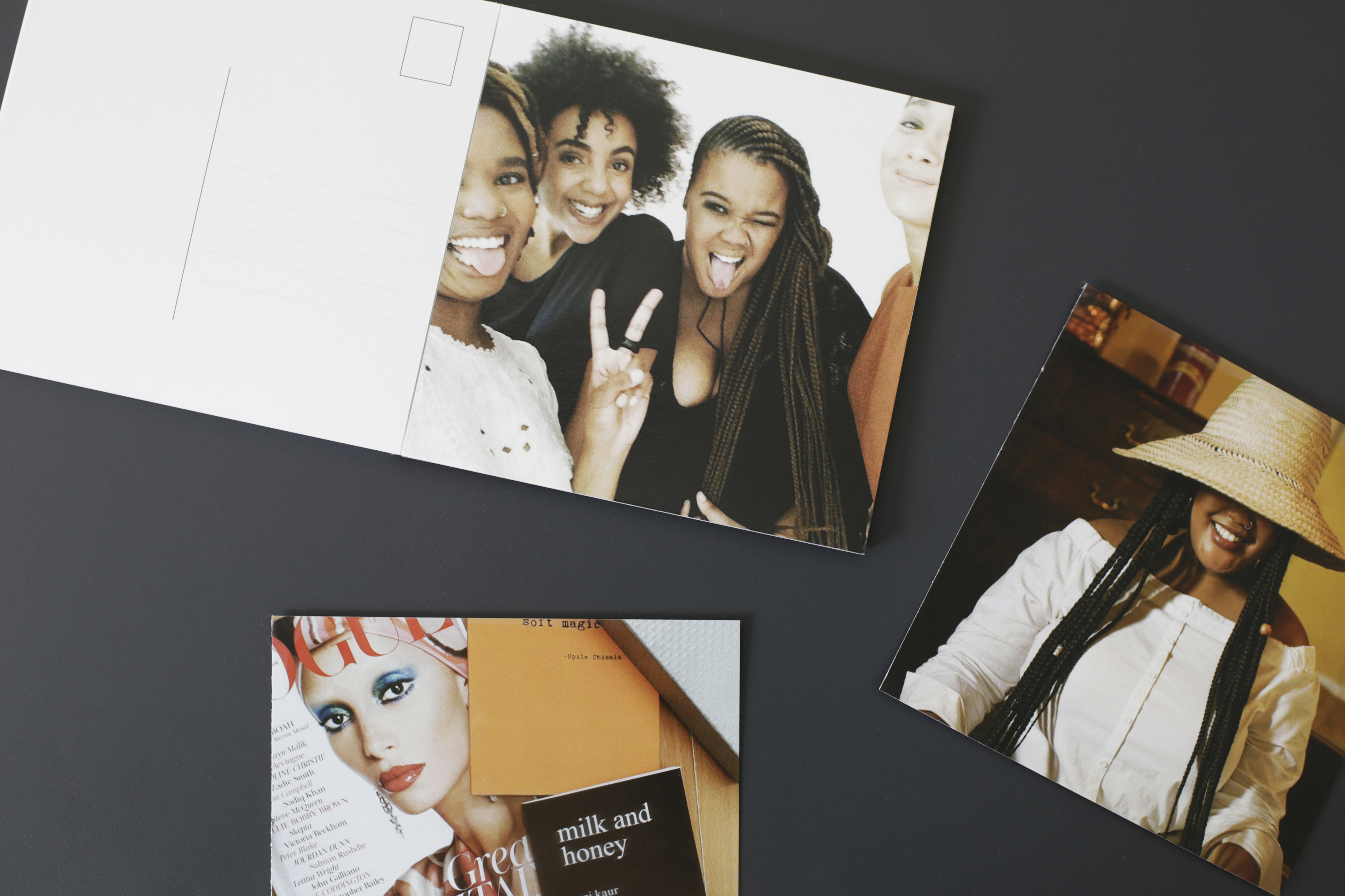 Tear out pages with Orms Print Room & Framing Postcard Books