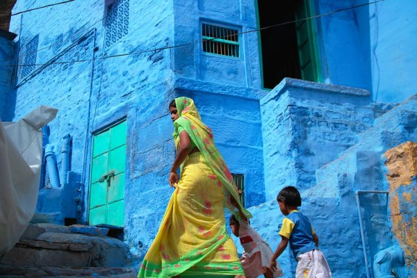 Blue city by Julie Mayfeng in Jodhpur India