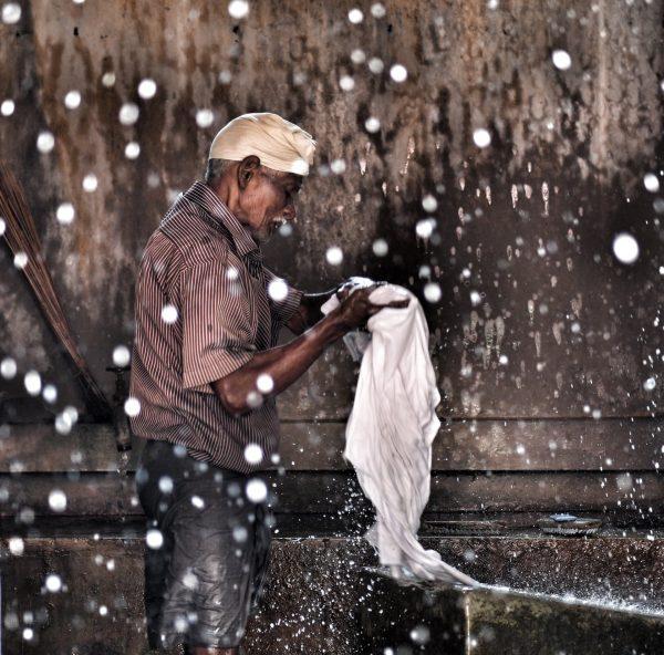 Laundry Time in India by Yvette Barnett in Kerala, India