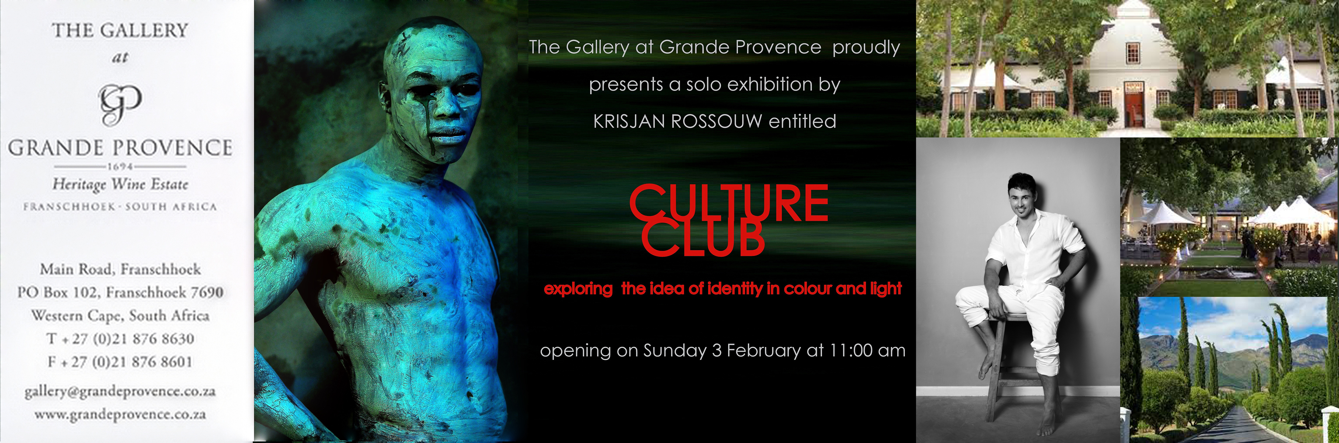 The Gallery at Grande Provence presents a solo exhibition of contemporary photography by Krisjan Rossouw entitled Culture Club.