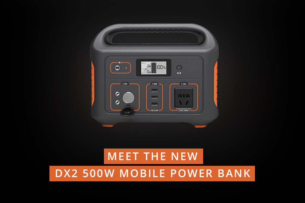 Meet the new DX2 500W Mobile Power Bank