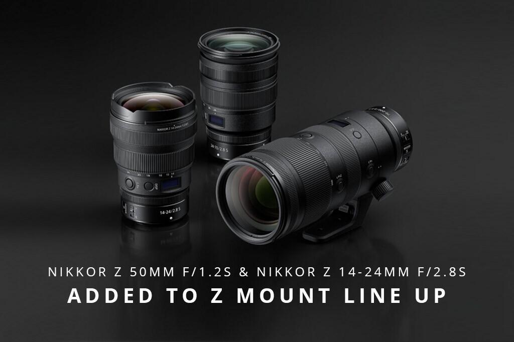 Nikkor Z 50mm f/1.2S & Nikkor Z 14-24mm f/2.8S Added To Z Mount Line Up