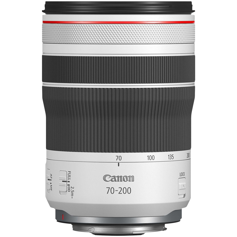 rf 70-200mm f4l lens with no lens cap or rear cap