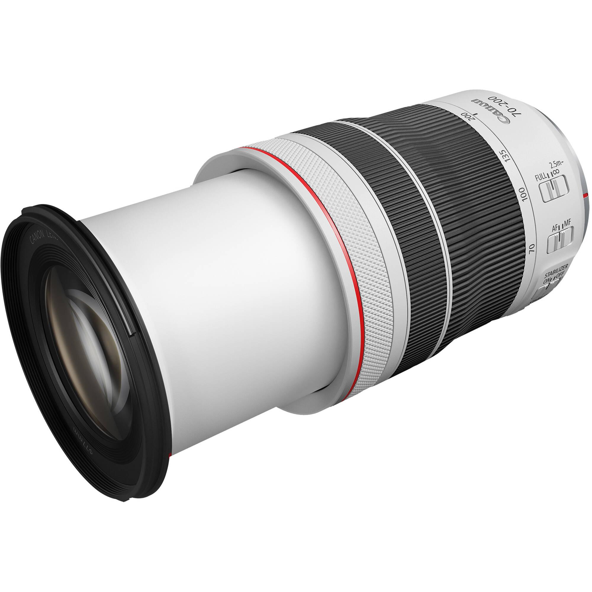 rf 70-200mm f4 lens fully extended