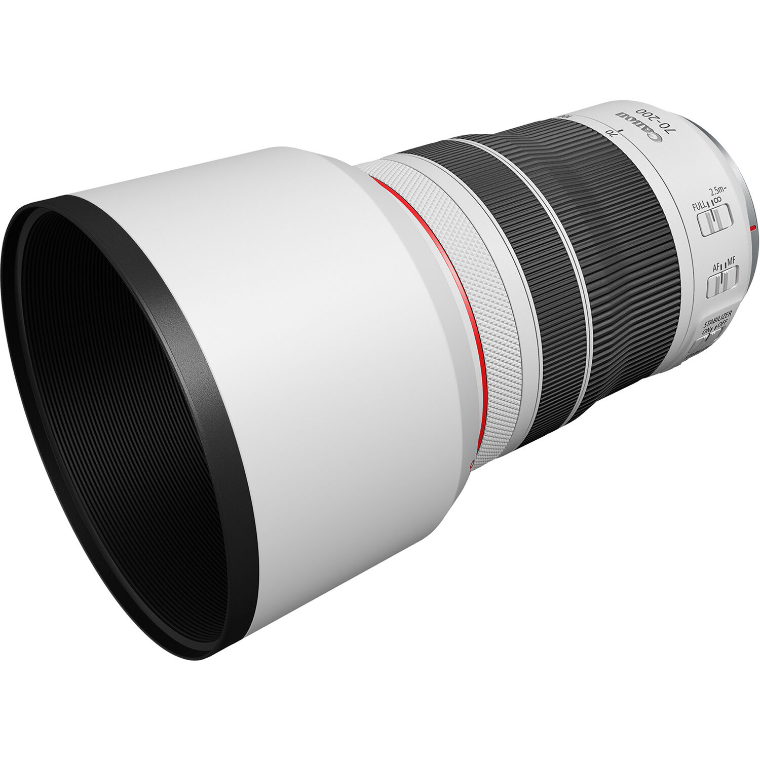new lens with lens hood attached