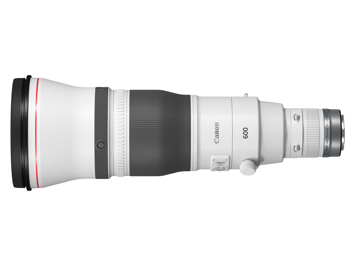 THE RF 600MM F4L IS USM LENS top view