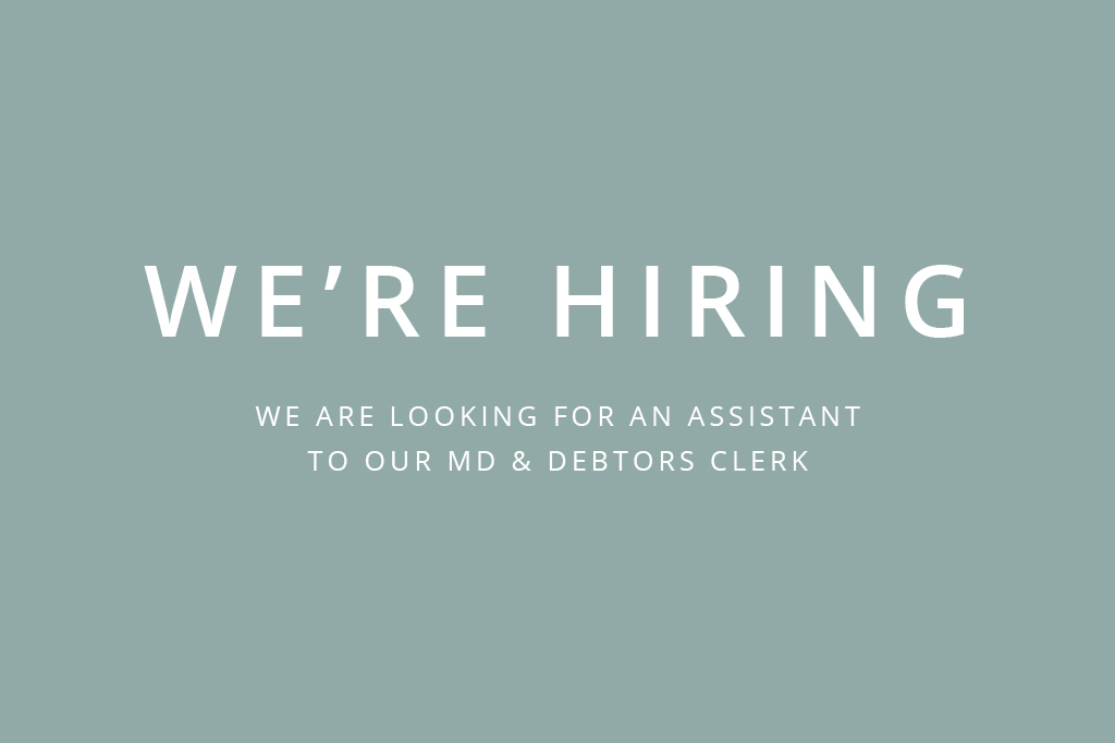 We're Hiring! Join The Orms Family As An Assistant To Our Managing Director & Debtor's Clerk