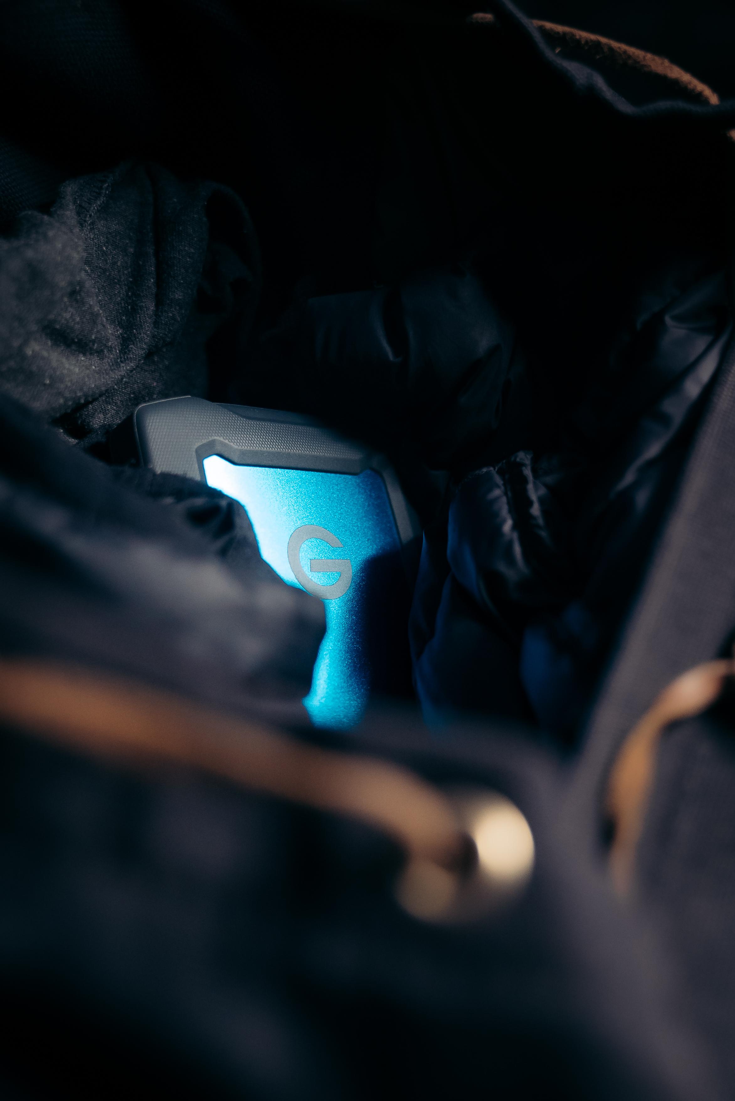 g-tech armor atd external hard drive in bag
