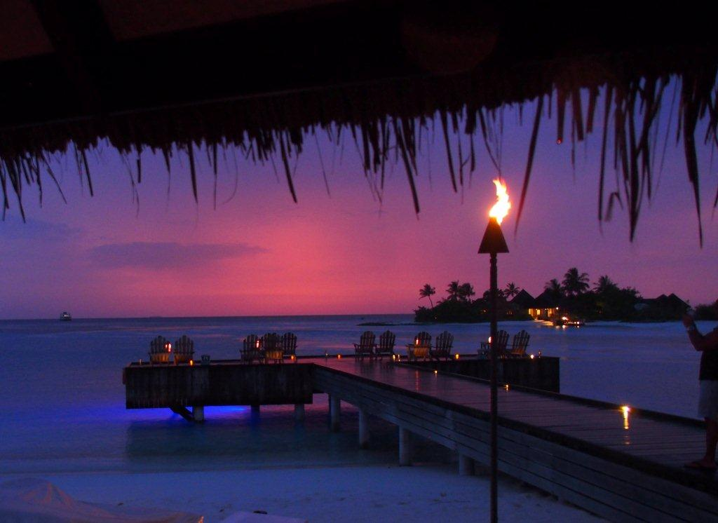 A Gorgeous Sunset in The Maldives