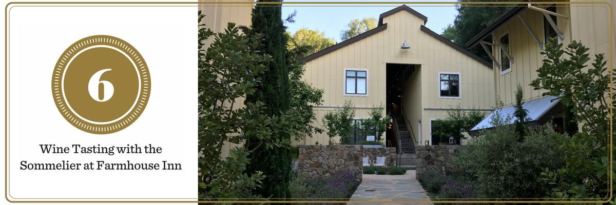 California Wine Tasting: Farmhouse Inn