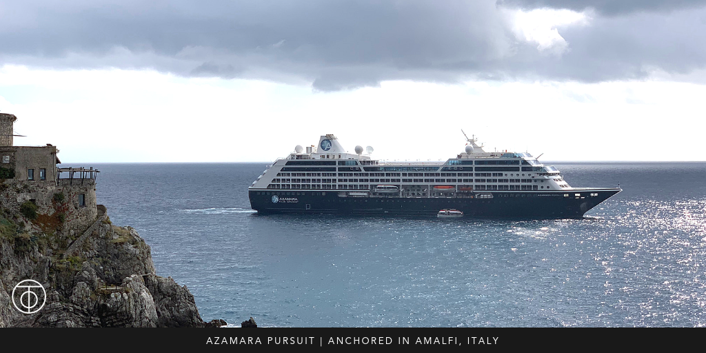Azamara Pursuit: Anchored in Amalfi