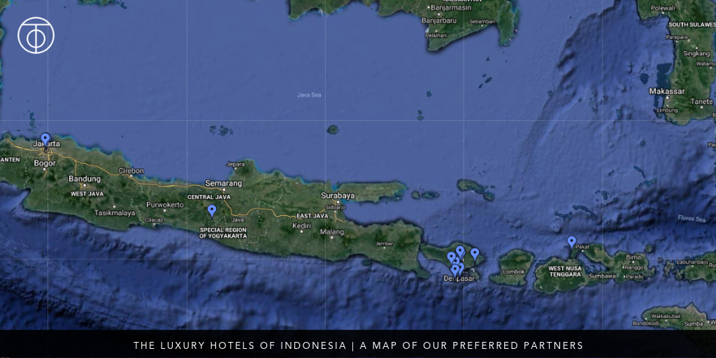 luxury hotels of Indonesia Map