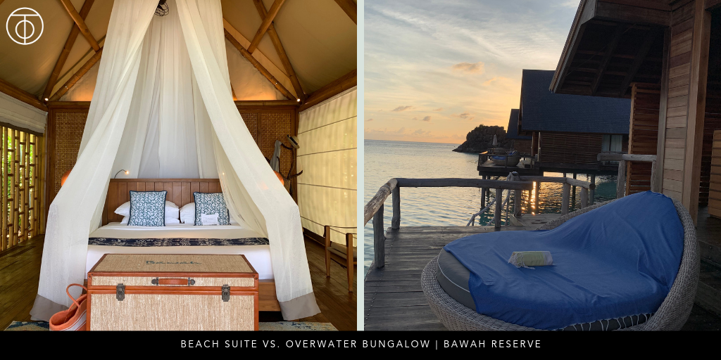Bawah Reserve: Beach Suite vs. Overwater Bungalow