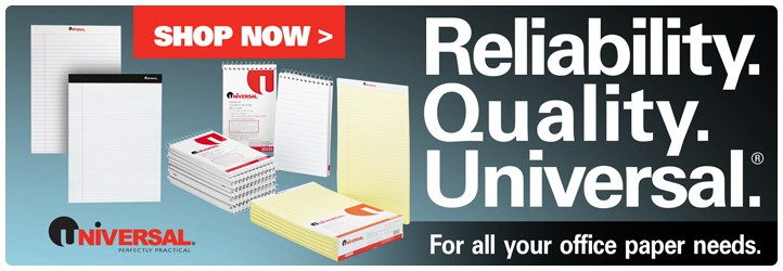 Save with Universal Paper Pads & Notebooks